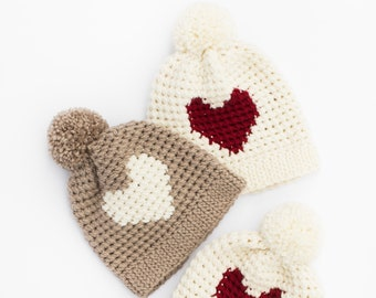 Jillian Harris x Etsy Crocheted Heart Hat by Lakeside Loops