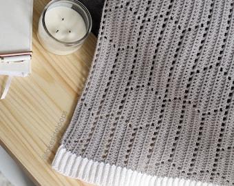 Crochet Pattern - Reese Modern Hexagon Chevron Blanket/Afghan/Rug by Lakeside Loops (4 sizes: stroller/baby, crib/lapghan, queen, and king)