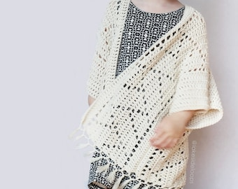 Crochet Pattern - Kenzie Kimono by Lakeside Loops (includes 5 sizes - Toddler, Little Kids, Big Kids, and 2 Adult sizes) /sweater/cardigan