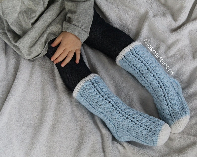 01a161e0a30c8 Crochet Pattern - Harlow Cable Socks by Lakeside Loops (includes 11 sizes -  Baby (6 Months) through to Mens/Womens Adult sizes)