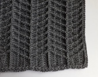 Crochet Pattern - Hayden Chevron Blanket/Afghan/Rug (includes 3 sizes: stroller/baby blanket, crib blanket, and afghan)