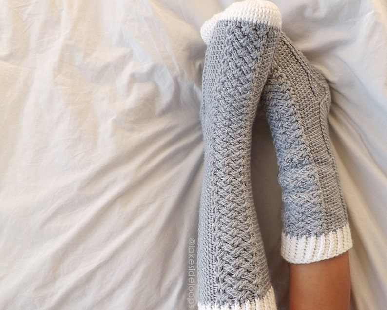 Crochet Pattern  Parker Cable Socks by Lakeside Loops image 0