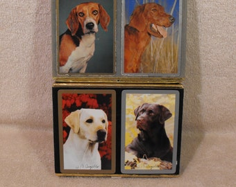 Playing cards swap card dogs fox hounds  single wide