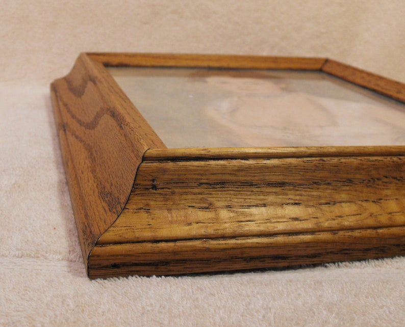 Heavy Finished  Solid  Oak Wood Picture Frames with Glass Insert  for Crafts Repurpose or to Frame your Own Creation or Picture-Photo