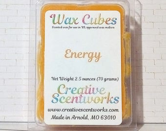 Energy Scented Wax Melt Cubes