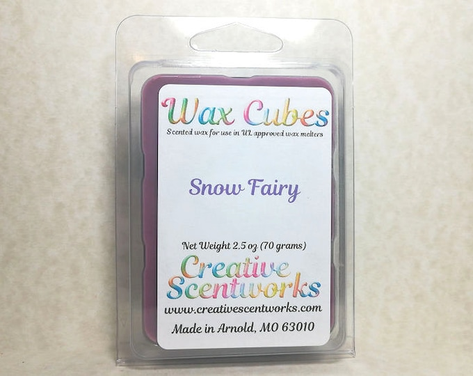 Featured listing image: Snow Fairy Wax Melts, Scented Wickless Candle, Cubes, Tarts