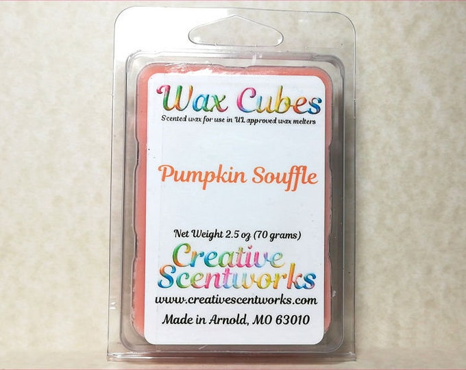 Featured listing image: Pumpkin Souffle  Wax Melts, Scented Wickless Candle, Cubes, Tarts