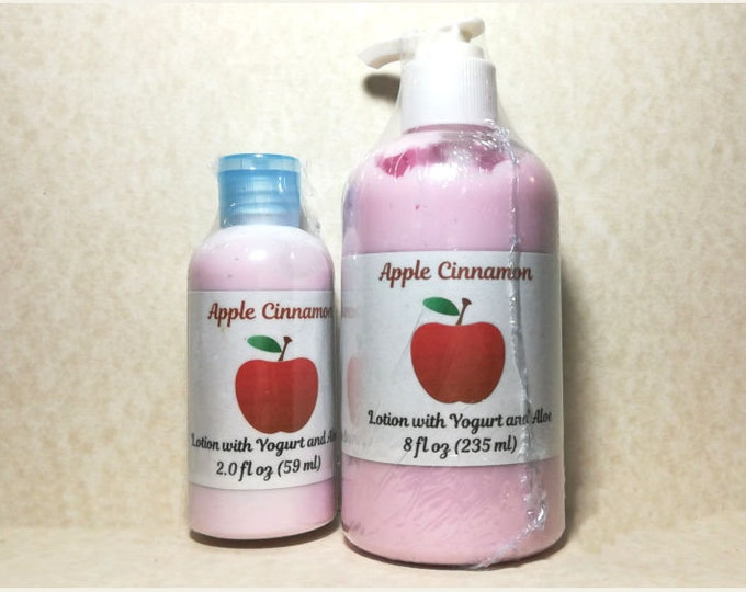 Featured listing image: Apple Cinnamon Scented Lotion with Yogurt and Aloe Vera
