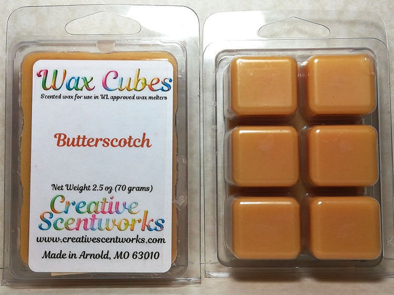 Butterscotch Wax Melts Scented Wickless Candle Cubes Tarts image 0