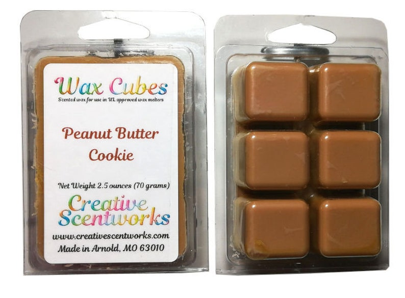 Peanut Butter Cookie Scented Wax Melts Wickless Candle image 0