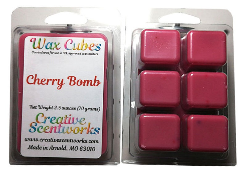 Cherry Bomb   Wax Melts Scented Wickless Candle Cubes Tarts image 0