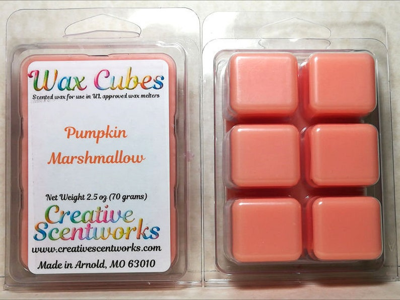 Pumpkin Marshallow Wax Melts Scented Wickless Candle Cubes image 0