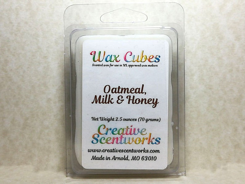 Oatmeal Milk and Honey Scented Wax Melts Scented Wickless image 0