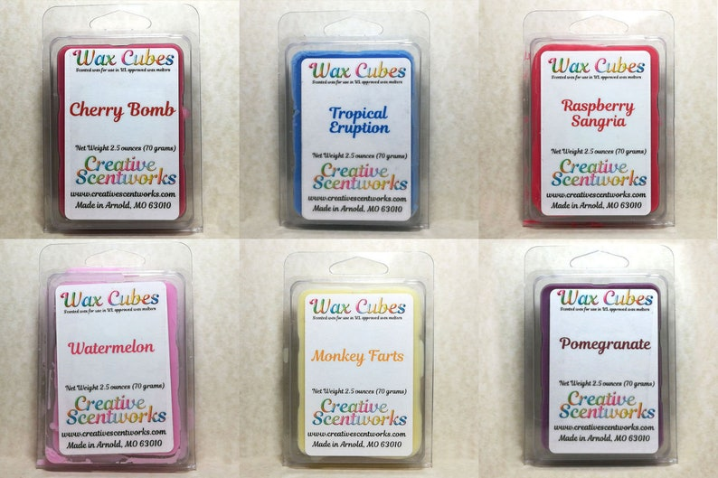 Fruity Scented Wax Melts Scented Wickless Candle Cubes image 0