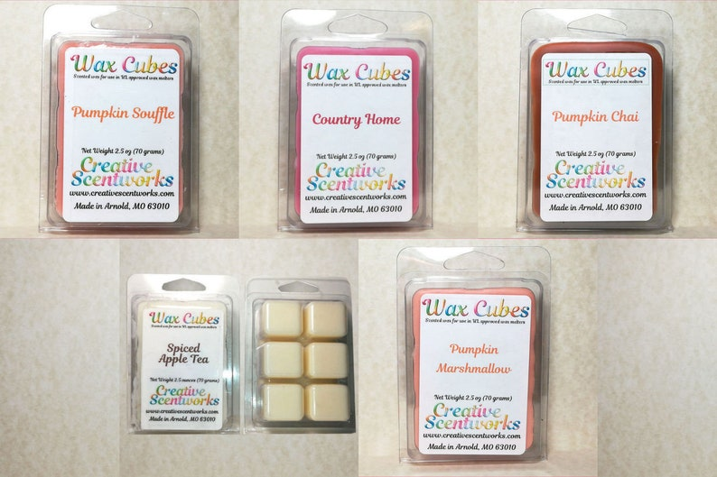 Autumn and Halloween Scented Wax Melts Wickless Candle image 0