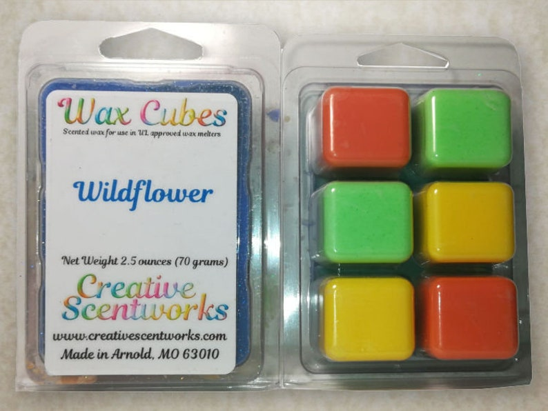 Wildflower Scented Wax Melts Wickless Candle Cubes Tarts image 0