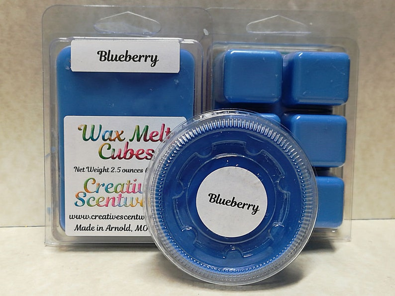Blueberry Wax Melts Scented Wickless Candle Cubes Tarts image 0