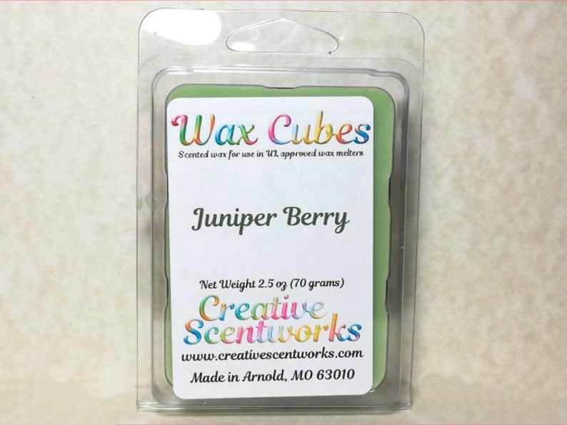 Juniper Berry Wax Melts Scented Wickless Candle Cubes Tarts image 0