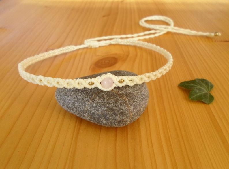 Macrame choker macrame jewelry macrame necklace beaded choker macrame headband boho headband gemstone choker bohemian jewelry