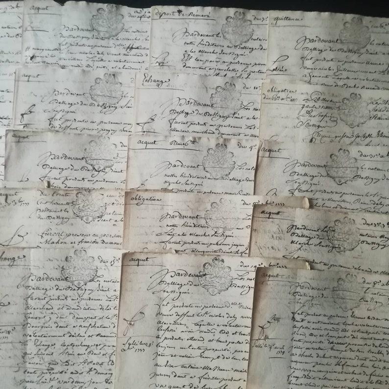 FRANCE  1777  antique French handwritten manuscript paper