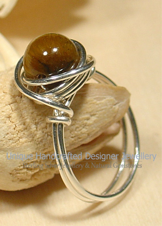 Tiger Eye Solid 925 Sterling Silver Solitaire Ring Oval Shape Natural Gemstone Handmade Vintage Jewelry All Size Ring GESR-203A