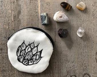 Agave Coin Purse - Handprinted Cactus Agave