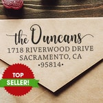 Custom Family Address Stamp, The Duncans Script Address Stamp, Self-Inking Return Address Stamps