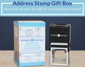 Custom Address Stamp Gift Box