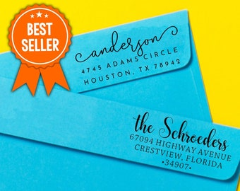 Best Rated Address Stamp   Custom Rubber Address Stamp Self-Inking   Personalized Return Address Stamp