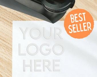 Custom Logo Desk Embosser, Silver or Gold Seals, Use Your Custom Logo!