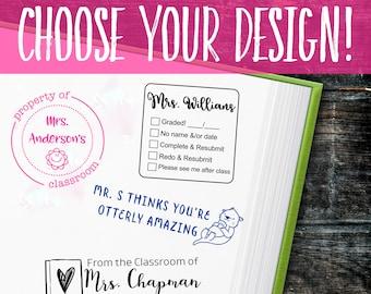 Personalized Classroom Teacher Stamp | Self Inking Custom Stamps for Teachers | Multiple Designs | Gift For Teacher