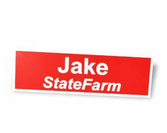 Jake From State Farm Name Tag Halloween Costume