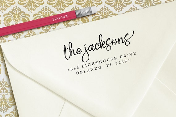 The Jacksons Wedding Stamp, Custom Wedding Stamps, Wedding Invitation Stamps