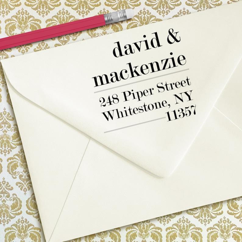 Self-Inking Return Address Stamps Housewarming Gift Stamp Mackenzie Design Address Stamp Custom Family Address Stamp