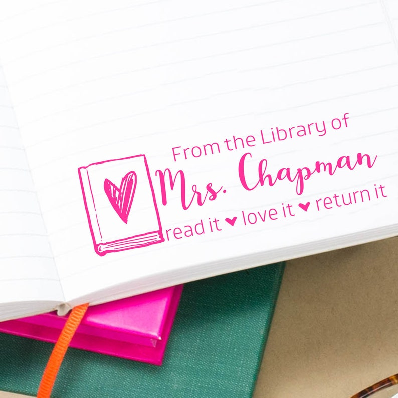 Custom Librarian Stamp From the Library of Script Classroom image 0