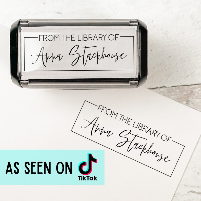 From the Library of Script Stamp  Trendy Personalized Book image 0