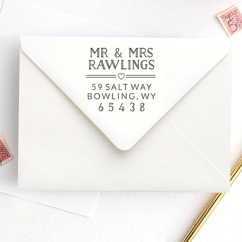 Rawlings Wedding Address Stamp Housewarming Gift Stamp Self-Inking Return Address Stamps