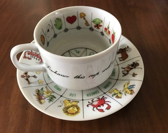 Vintage International Collectors Guild. Ltd Tea Cup & Saucer for Astrology, Fortune Telling, Fine China, Tasseography