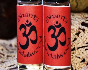 Sandalwood Perfume Oil Shanti Sandalwood Fragrance Oil Roller Vegan Perfume