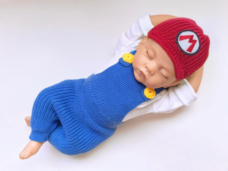 Mario Baby Foto Prop häkeln Windel Abdeckung Set Baby häkeln