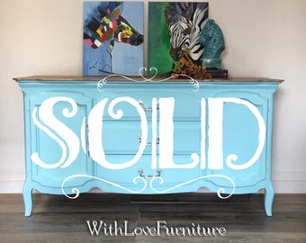 French Provincial /Buffet/ Credenza/ Tv Stand/ Changing Table/ Sideboard/ Console/ Accent Piece