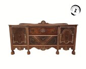 Customizable Antique Sideboard Buffet. You Choose the Finish Credenza, Server, Media Console.