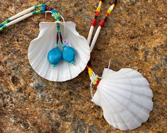 Scallop & Bead Necklace