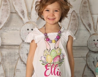 Personalized Easter Shirts for Girls - Easter Shirt for Girls - Easter Shirt Toddler Girl  - Easter Outfit - Easter Bunny Shirt