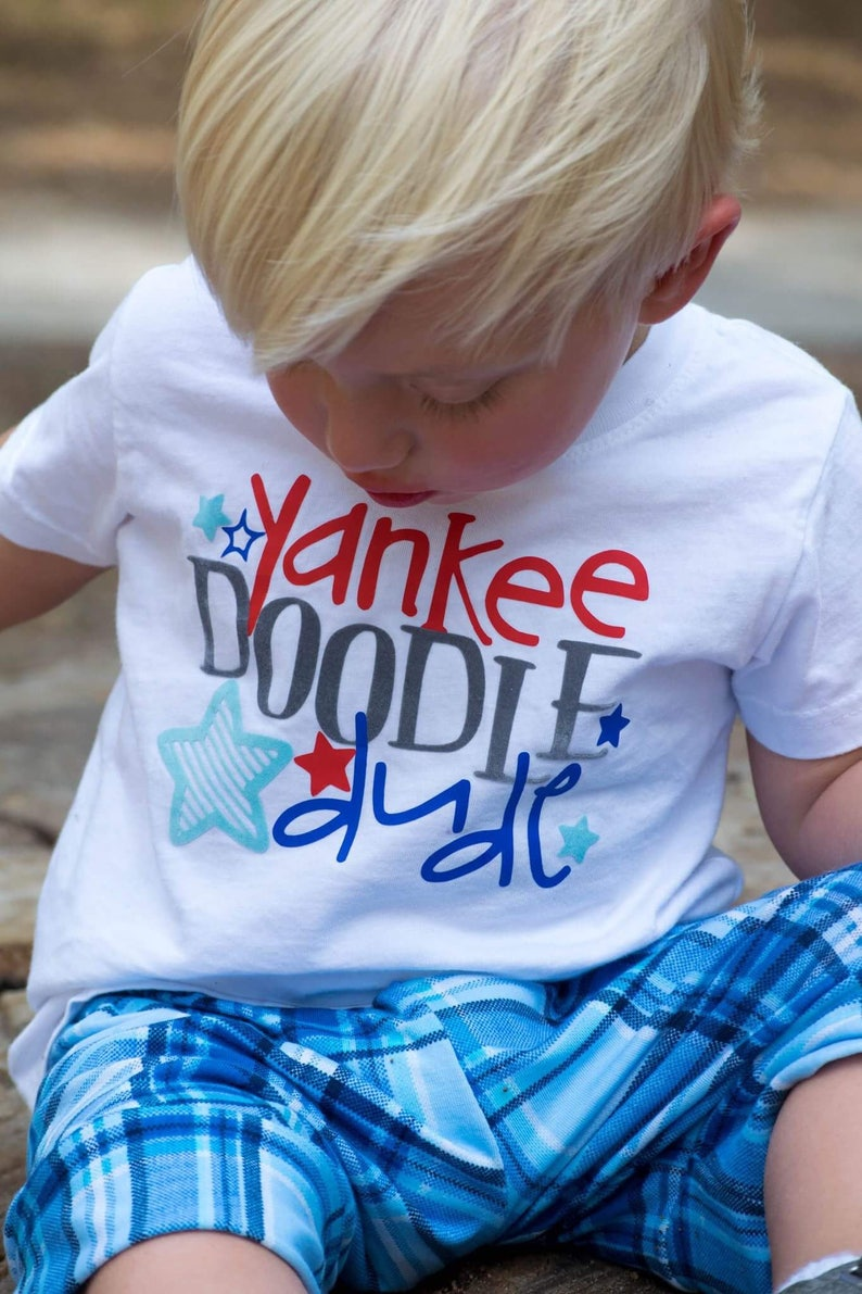 pretty nice 9e67a 1cea2 Fourth of July Shirt for Toddler - 4th of July Shirt for Boy - Patriotic  Shirt for Toddler - Yankee Doodle Dude - Red White and Blue Shirt