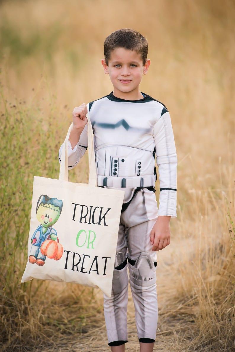 Trick or Treat Tote Frankenstein Bag Halloween Treat Bag Trick or Treat Bag Halloween Bag Boy Candy Bag Trick it Treat Bag Boy