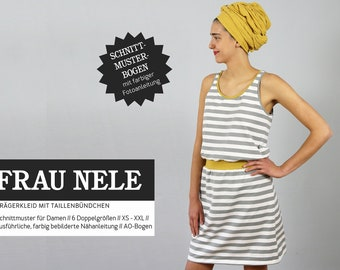 63ea48f6f0 Sewing pattern Women's Woman Nele for a carrier dress by studio cut-ready  for sizes XS to XXL, paper cut pattern