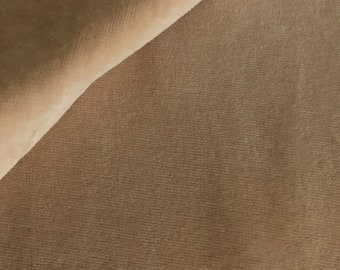 Organic Nicky fabric C.Pauli, uni Smoke Gray, in warm, light beige in extra width