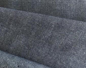 Organic Chambray fabric in grey-blue, remaining piece C. Pauli Nature, organic cotton