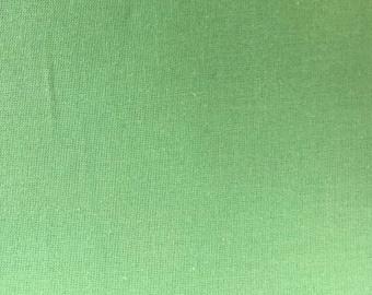 Cotton fabric, patchwork fabric Freespirit Designer Solids in uni Green remnant